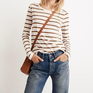 Madewell Whisper Cotton Striped Crewneck Tee
